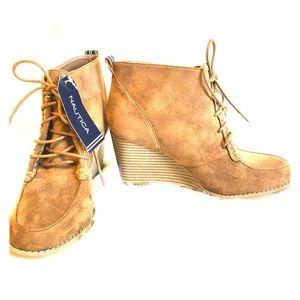 50ca6709ced Nautica Shoes -  NWT  Nautica Martingale Wedge Booties